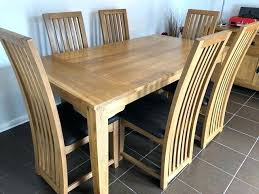 full size of used oak dining room table and 6 chairs solid wood with leather ideas