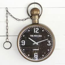 new era metal wall clock antique