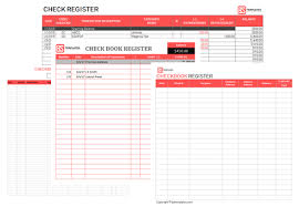 Excel Checkbook Register Template Printable Checkbook