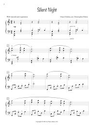 sheet music silent night silent night piano safari