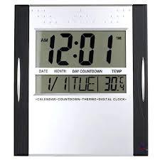 digital wall clocks checkmate digital wall clock black oh clocks large digital wall clock target