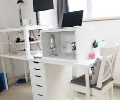 ... Large-size of Awesome A Makeshift Standing Desk Charli Marie in Ikea Standing  Desk Hack ...