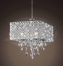 rosemary elegant crystal chrome 4 light square chandelier 16 h x 17