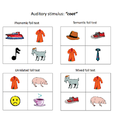 Sample Stimulus Cards From The Word-To-Picture Matching Task. [To ...