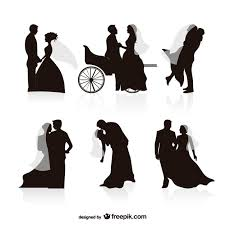 Vectors Silhouettes Wedding Black Silhouettes Vectors Vector Free Download