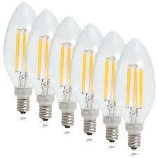 chandelier bulb clear filament candelabra led light bulb warm white 6 pack chandelier bulb base size