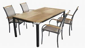 look out for outdoor table and chairs that are easy to clean