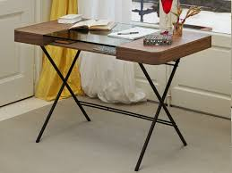 wood writing desk with drawers and glass top cosimo wengÈ by