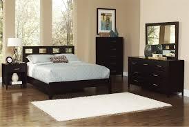 Downtown Queen Dark Brown Wooden Panel Bed