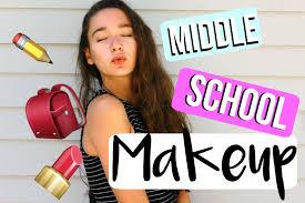 middle makeup tutorial 2016 2017 caroline grace
