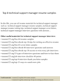 Sample Resume Technical Support Manager New Sample Resume Technical