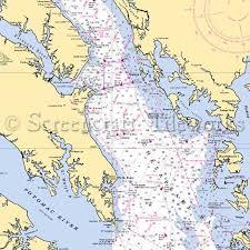 Chesapeake Bay Maps Charts Maryland Chesapeake Bay Chart 13552 Nautical Chart Decor