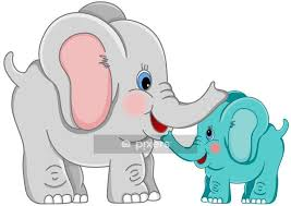 mother and baby elephant wall decal wall decals