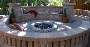 stamped concrete patio with square fire pit. Each Stamped Concrete Patio With Square Fire Pit