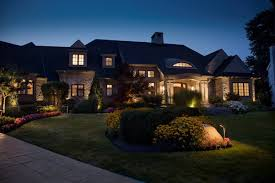 image of contemporary low voltage deck lighting