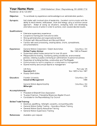 Resume Forrehouse Resumes Skills Job Operations Manager Objectives