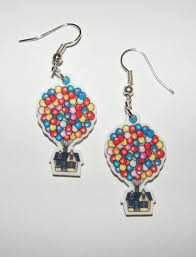 Up House Balloons Disney Pixar Up Movie Balloon House Earrings By Murals4u On Etsy