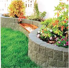 curves straight walls garden beds and edging walls not to exceed 1m in height for larger walls see terraforce l11 and l16 blocks