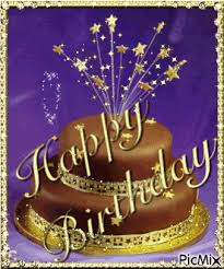 Golden Chocolate Birthday Cake Gif Pictures Photos And Images For