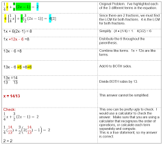 solving equations with two fractions that have diffe denominators