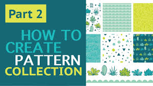 How To Make A Pattern Design Part 2 How To Create Vector Repeat Pattern Collection With Succulents In Adobe Illustrator
