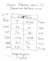 howell electric motor wiring diagram yes i know this is unreadable so let me translate