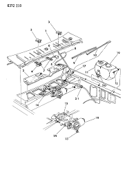 1987 dodge dakota windshield wiper washer system diagram 00001197