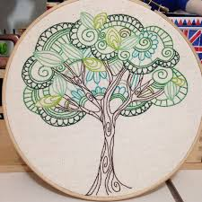 Best 25+ Hand embroidery patterns ideas on Pinterest | Hand ... & tree of life - lovely idea, easy to freehand draw a design Adamdwight.com