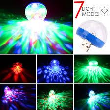 Portable USB/Micro USB Port <b>RGB Disco Light LED</b> Ball Laser Light ...