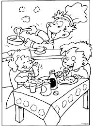 Kleurplaat Eten Aan Tafel Kids N Fun De 20 Ausmalbilder Von Pingu