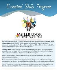 essential skills program millbrook < back to news list