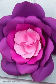 Giant Paper Flower Template Pdf Learn To Make Giant Paper Roses In 5 Easy Steps And Get A