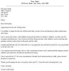 Babysitter Cover Letter Example Icover Org Uk