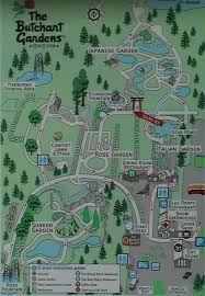 butchart gardens map. Wonderful Butchart Map Of Butchart Gardens In