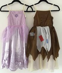 girls disney style princess dress reversible m s cinderella rags to riches
