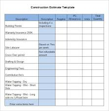 Job Quote Template Excel Free Construction Estimate Template Excel Estimate