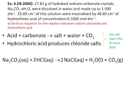 sodium carbonate and hydrochloric acid equation jennarocca