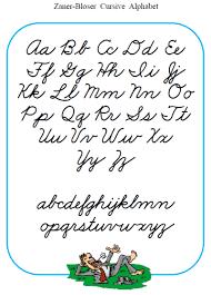 Free Printable Cursive Alphabet Poster In Zaner Bloser Font