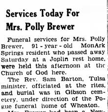 Polly Brewer Obituary - Newspapers.com