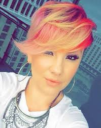 Stunning short pixie haircuts ideas Layered Hairstyles Longer Pixie Cut With Long Bangs Pink Red Yellow Color Hairstyles Weekly 21 Stunning Long Pixie Cuts Short Haircut Ideas For 2019