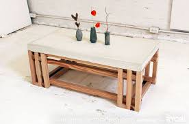 concrete coffee table diy best of diy concrete wood coffee table full tutorial i love the