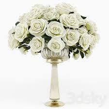 3d models bouquet roses in a vase