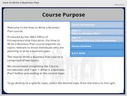 how to write a business plan the u s small business  course preview image