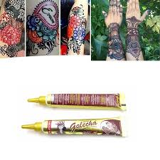 (^_-)<b>7 colors</b> henna tattoo finger henna tattoo cone cream | Shopee ...