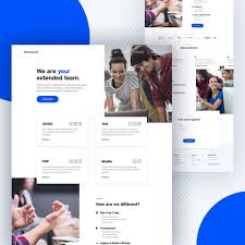 Business Homepage Design Homepage Design For Company On Behance
