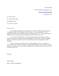 Cover Letter To The Editor Template Letter To The Editor Example