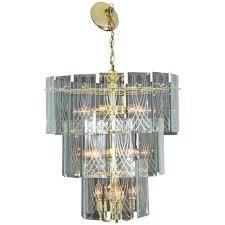 1970s vintage three tier chandelier