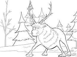 Small Picture Reindeer Coloring Pages And Santa Christmas Bebo Pandco Coloring