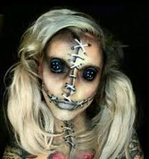 creepy rag doll makeup curiouser and
