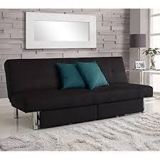 Sleeper Sofa - DHP Sola Convertible Sofa with Storage in Black